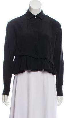 Opening Ceremony Silk Snap-Up Blouse w/ Tags