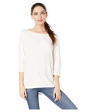 Michael Stars Brielle Madison Brushed Jersey Super Soft Cocoon Top