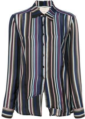 Nicole Miller flight stripe boyfriend shirt