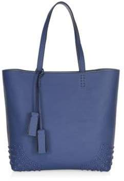 Tod's Gommino Leather Stud Tote