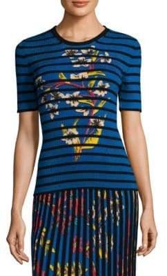 Etro Floral& Stripe T-Shirt