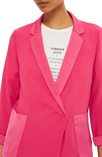 TopshopWomen's Topshop Satin Pocket Blazer