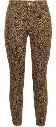 Current/Elliott Leopard-print Mid-rise Skinny Jeans