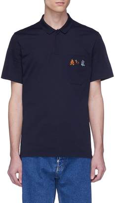 Lanvin Mix graphic embroidered polo shirt