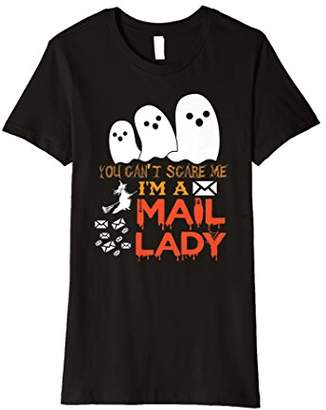 Womens Scary & Spooky Mail Lady Funny Halloween T Shirt