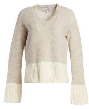 Derek Lam 10 Crosby V-Neck Wool-Blend Sweater