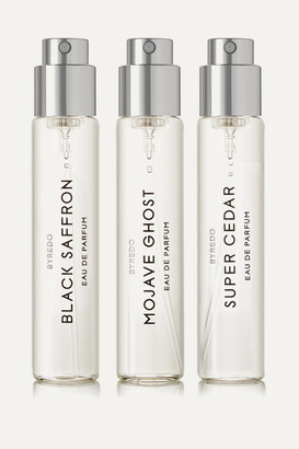 Byredo La Sélection Boisée Set Eau De Parfum - Mojave Ghost, Super Cedar & Black Saffron, 3 X 12ml