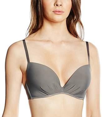 Billet Doux Women's T-Shirt Plain Bra - Grey - 36C