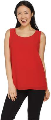 Joan Rivers Classics Collection Joan Rivers Double Layer Soft Crepe Tank