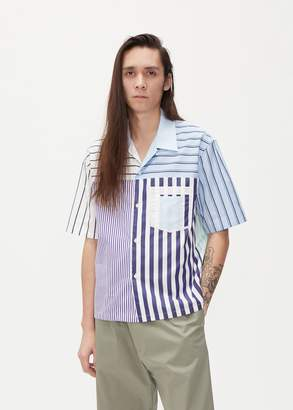 Maison Margiela Combo Stripe Short Sleeve Shirt