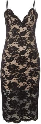 Bardot Strappy Contrast Lace Bodycon dress