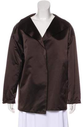 Dusan Dušan Silk Long Sleeve Jacket