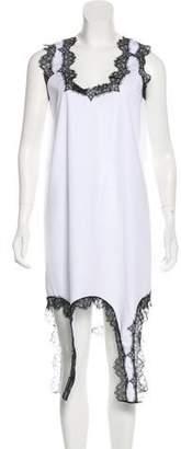 Au Jour Le Jour Lace-Trimmed Midi Dress w/ Tags