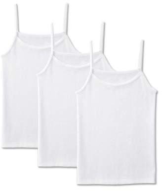 Fruit of the Loom Solid White Wear Two Ways Spin Camis, 3 Pack (Little Girls & Big Girls)