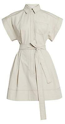 Givenchy Women's Belted Collared Shirtdress