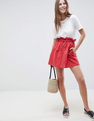 Asos Design Cotton Mini Skater Skirt with Pockets