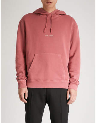 Saint Laurent Logo-print cotton-jersey hoody
