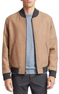 Saks Fifth Avenue COLLECTION Camel Bomber Jacket