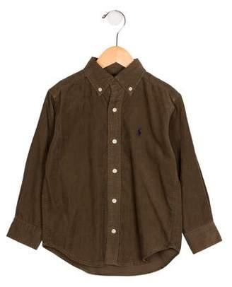 Ralph Lauren Boys' Corduroy Button-Up Shirt