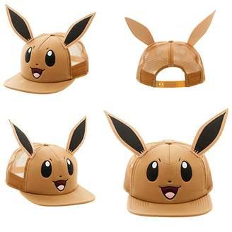 Bioworld Pokemon Eevee Big Face with Ears Snapback Trucker Hat