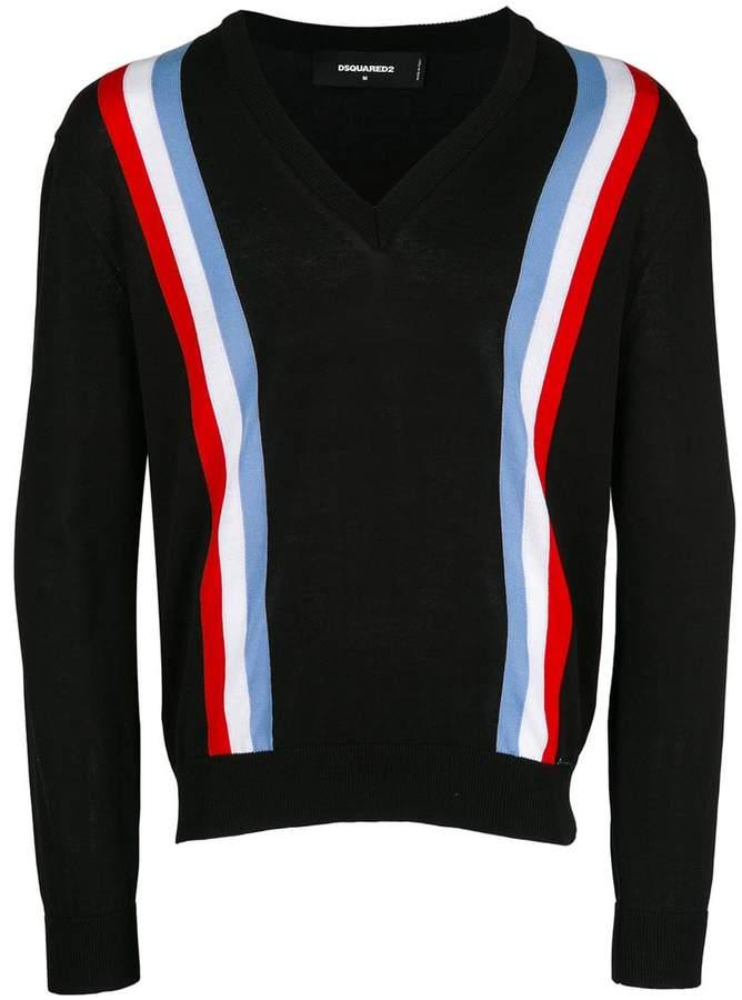 DSQUARED2 web striped cardigan
