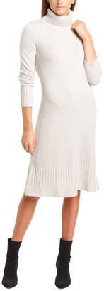 Forte Cashmere Ruffle Hem Cashmere Sweaterdress