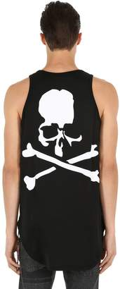 Skull Print Jersey Tank Top