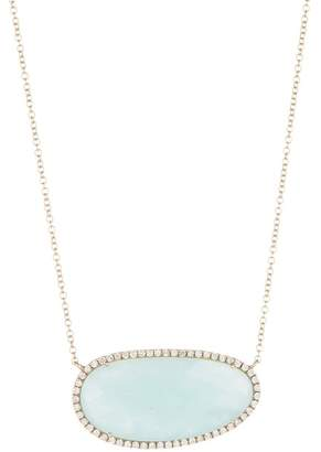 Meira T 14K Gold Amazonite & Diamond Necklace - 0.46ctw
