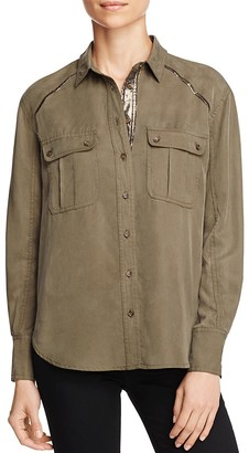 Free People Off-Campus Cargo Shirt $108 thestylecure.com