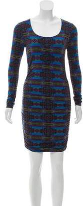 Torn By Ronny Kobo Long-Sleeve Printed Dress