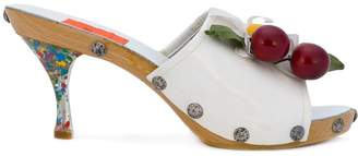 Christian Lacroix Pre-Owned Summer daisy & cherry mules