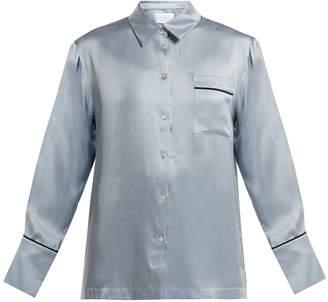 ASCENO Patch-pocket silk pyjama top