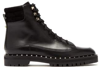 Valentino Soul Rockstud Leather Ankle Boots - Womens - Black