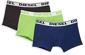 Diesel Men's 3-Pack Stretch Cotton Trunks
