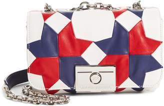 Calvin Klein Patchwork Star Leather Shoulder Bag