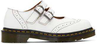 Comme des Garcons White Dr. Martens Edition Made In England Mary Jane Loafers