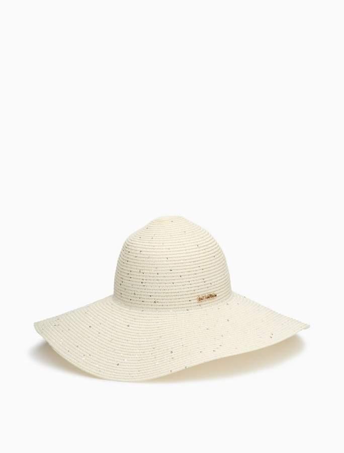Calvin Klein sequin straw sun hat