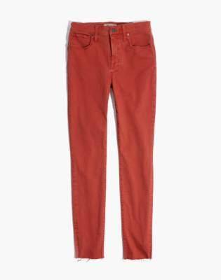"Madewell 9"" High-Rise Skinny Jeans: Raw-Hem Garment-Dyed Edition"