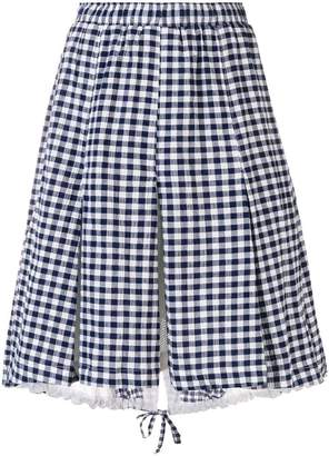 Clu pleated gingham dress