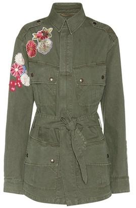 Appliqué cotton jacket