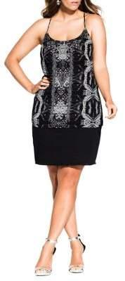 City Chic Plus Ankara Dress
