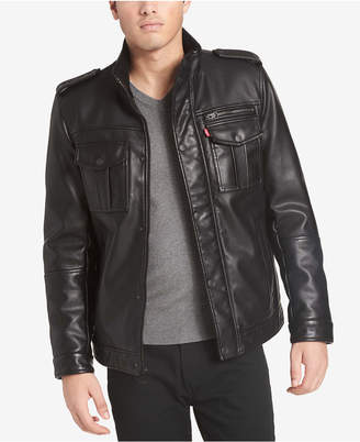 Levi's Men Faux Leather Utility Jacket