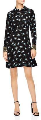 Sandro Peche Floral Shirt Dress