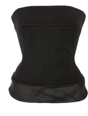 Stretch-Cotton Bustier Top