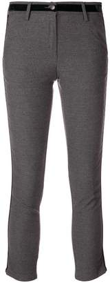 White Sand side stripe skinny trousers