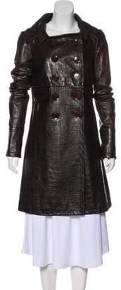 Christian Dior Leather Coat
