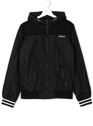 DKNY hooded bomber jacket