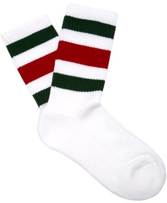 Gucci Web Striped Cotton Blend Socks - Womens - White Multi