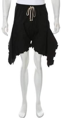 Rick Owens Flounced Harem Shorts w/ Tags