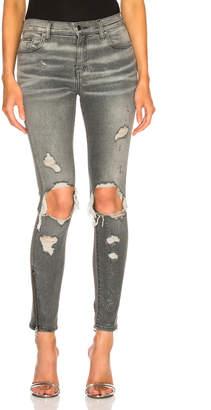 Amiri Glitter Thrasher Skinny in Grey | FWRD